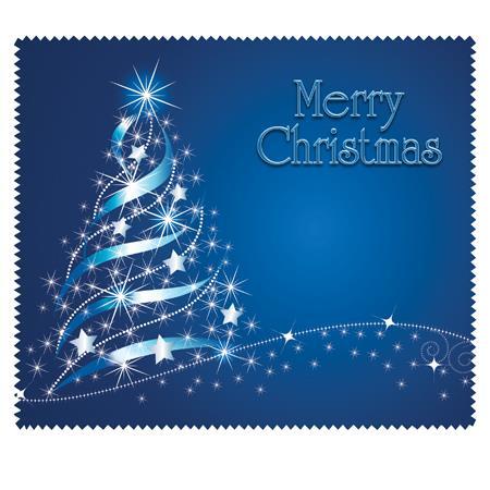 Merry Christmas (Blue) (bag of 100 cloths)